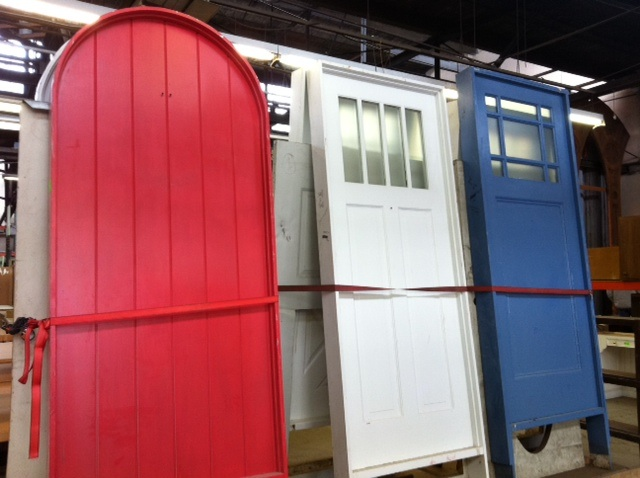 Refurbished doors that may look familiar--were used at Phipps Conservatory in their holiday show