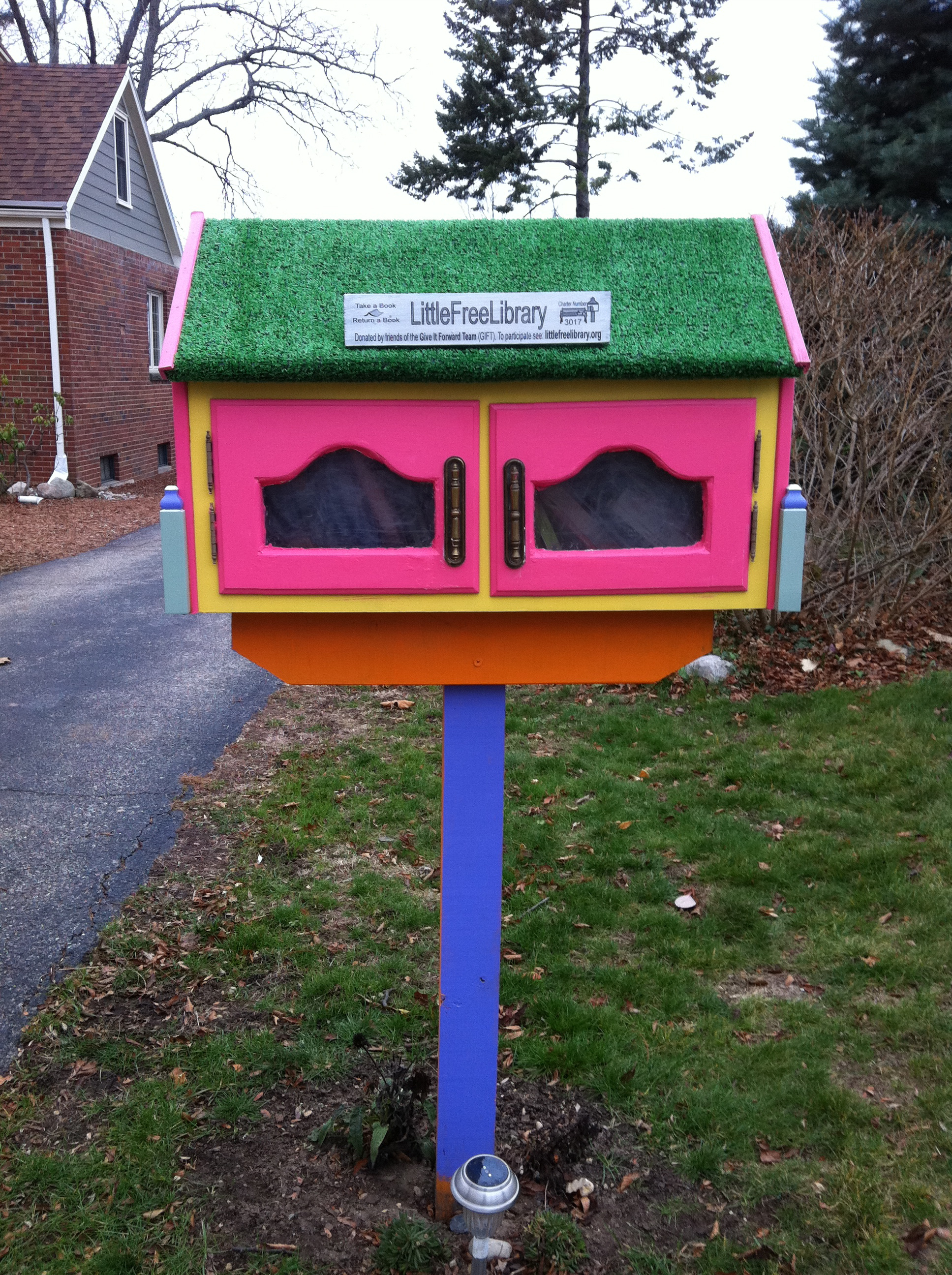 Little Free Library in Lansing Michigan