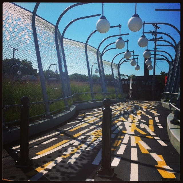 Shady Liberty, pedestrian bridge designed by Sheila Klein