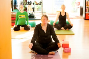 Prenatal yoga at Shining Light Prenatal Education