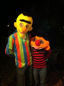 Bert and Ernie, our Halloween costumes!