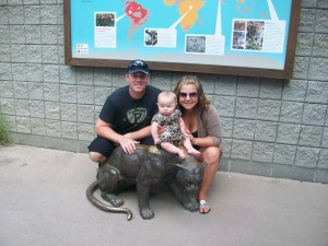 Miranda and her family at the Pittsburgh Zoo