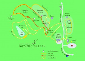 Map courtesy of Pittsburgh Botanic Garden