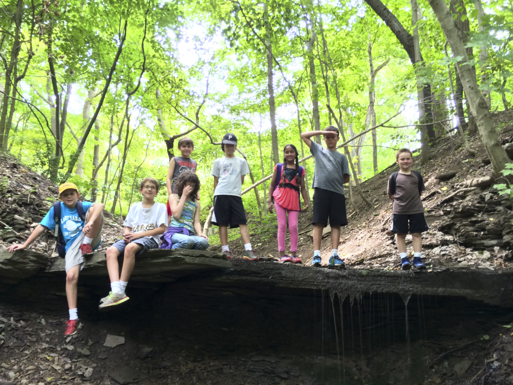 Outdoor expedition camp with the Pittsburgh Parks Conservancy, Photo courtesy of Pittsburgh Parks Conservancy