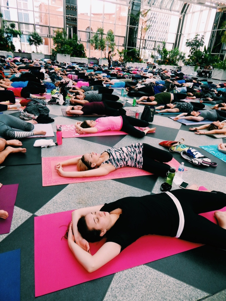 Yoga in the Square at the Wintergreen at PPG Place