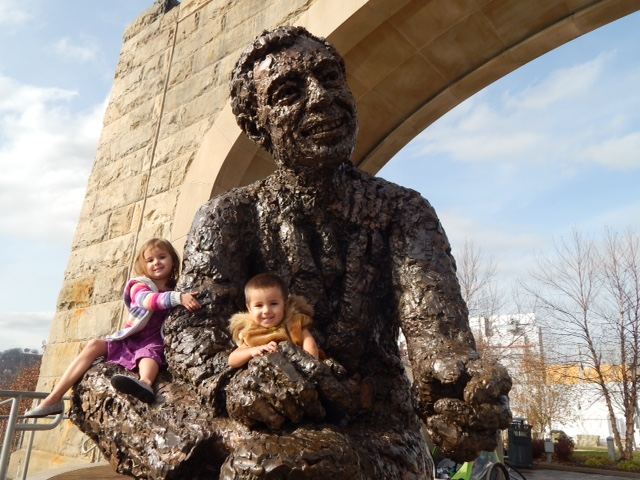 Fred Rogers statue along the North Shore, Photo by Nadine Champsi
